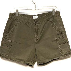 Calvin Klein High waisted cargo adventure shorts